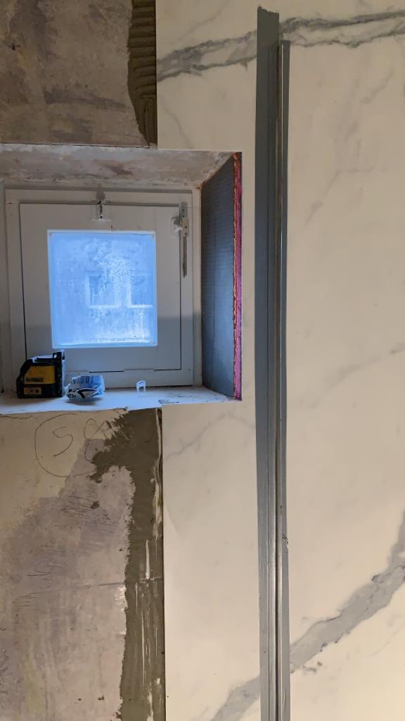 Voorbereidingen badkamer project